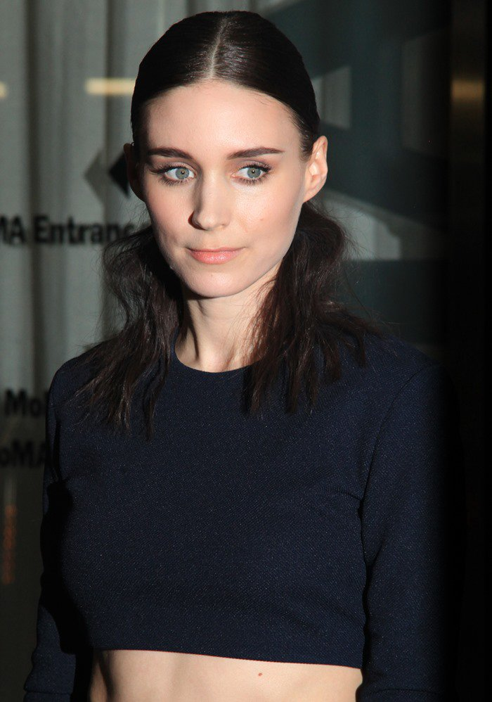 """Rooney Mara wears her hair center- parted at the screening of """"Ain't Them Bodies Saints"""""""