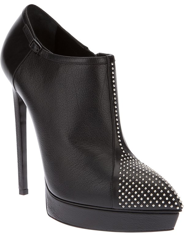 Saint Laurent Studded Stiletto Booties