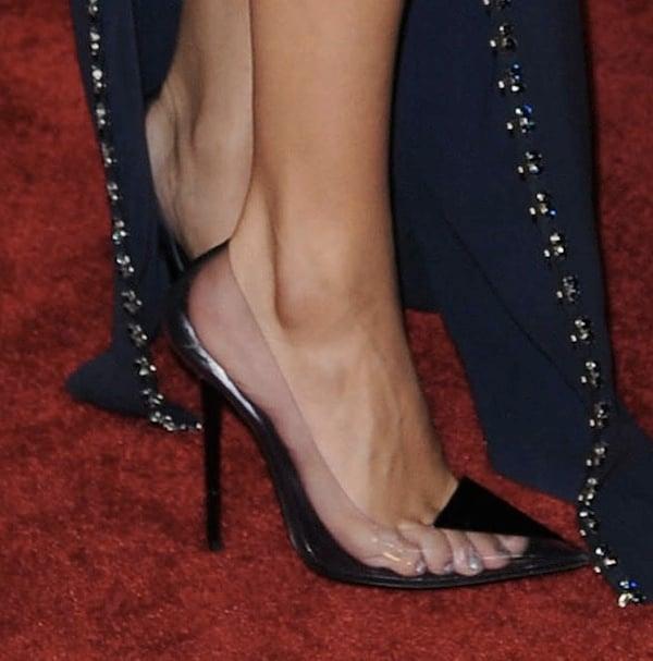 Selena Gomez rocking Versace shoes