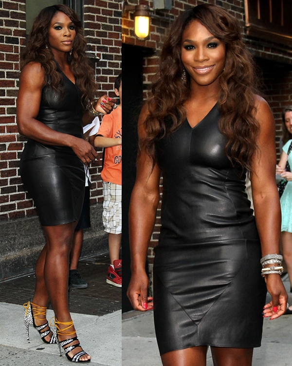 Serena Williams outside the Ed Sullivan Theater for the Late Show with David Letterman on August 21, 2013