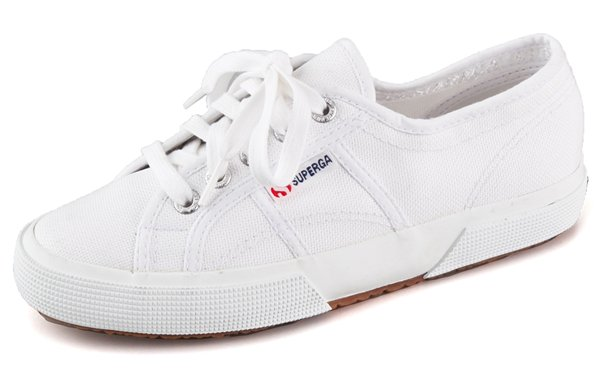 Superga's classic canvas sneakers are a chic go-to shoe for everyday wear