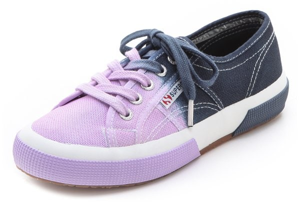 Ombré shading adds a modern dimension to these classic canvas sneakers from Superga
