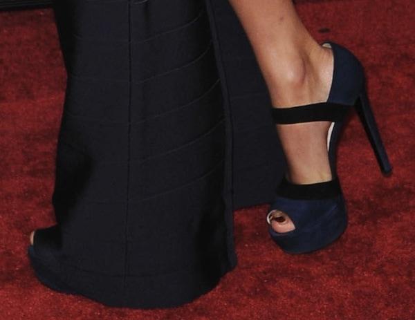 Taylor Swift wearing Prada platform sandals