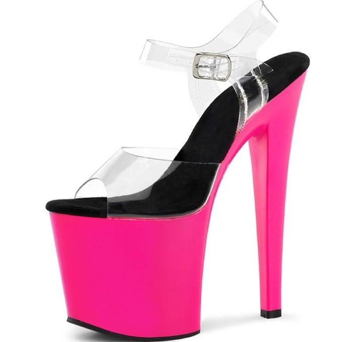 UV Reactive Hot Pink Neon Heels