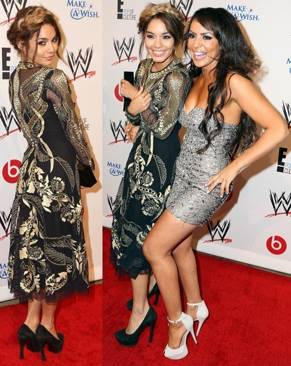 Vanessa Hudgens andLayla El at the WWE Superstars for Hope event in Beverly Hills on August 15, 2013