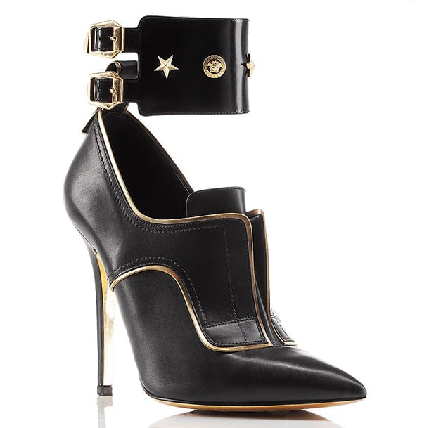Versace Studded Stiletto Boots