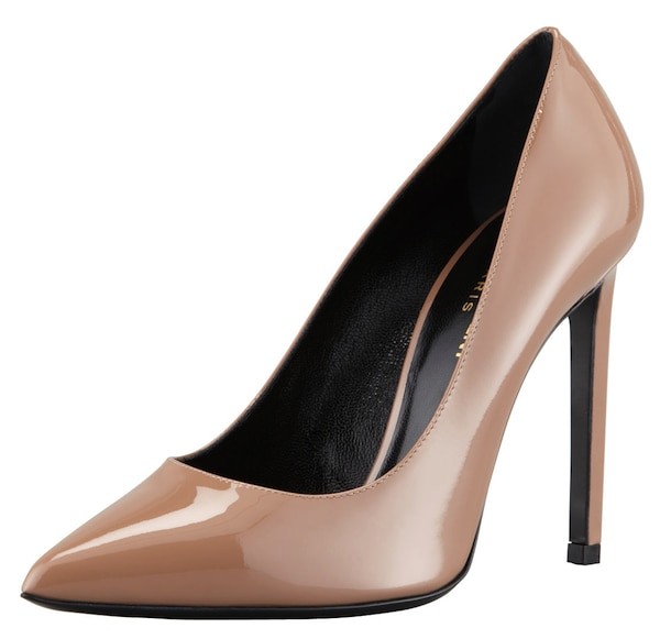 YSL nude pointy toe pumps