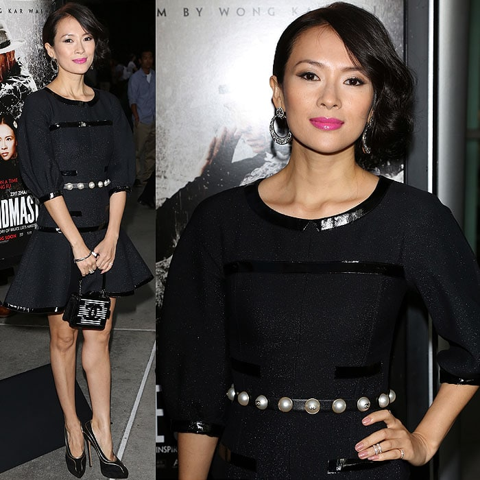 Zhang Ziyi flashed her legs at The Grandmaster premiere