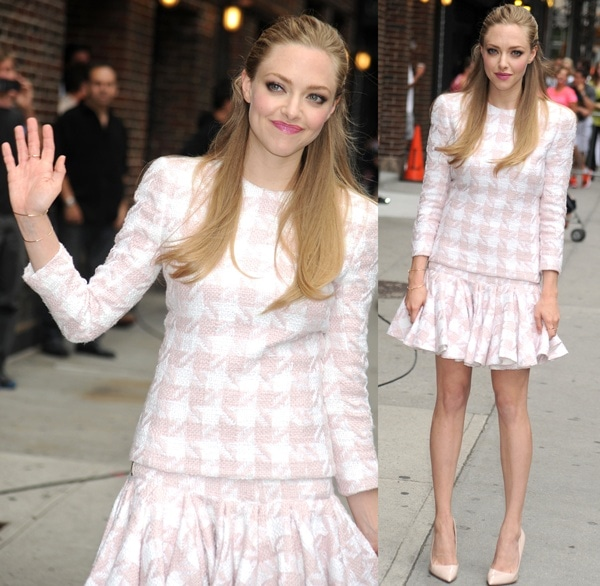 Amanda Seyfried outside the Late Show with David Letterman in New York City on July 30, 2013