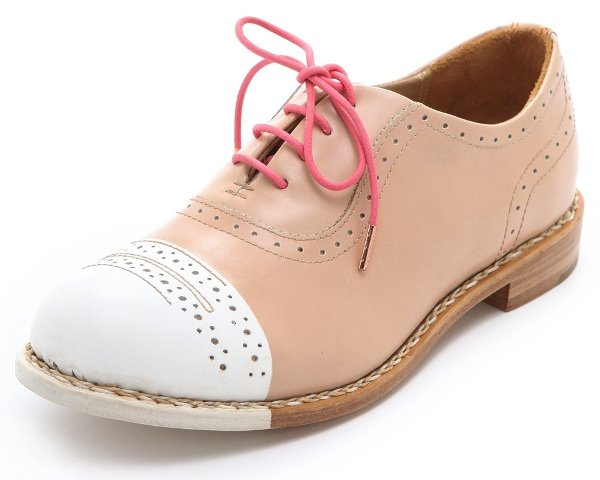 In the hands of The Office of Angela Scott, retro brogues feel forward with a dipped toe cap