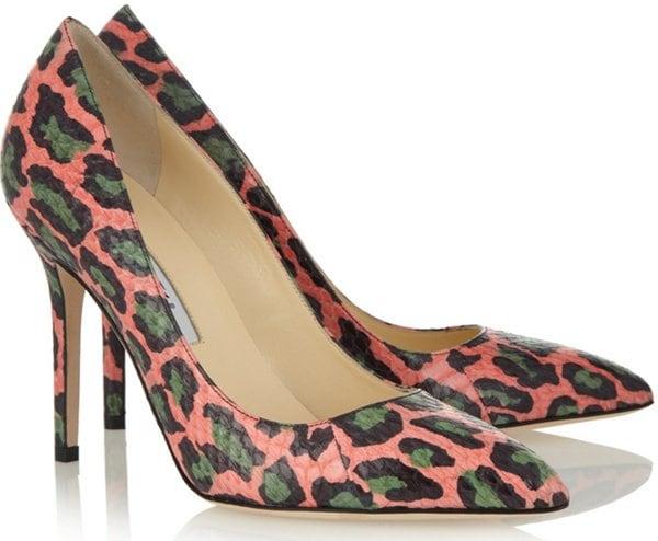 Brian Atwood Cassandra Pumps in Leopard Print