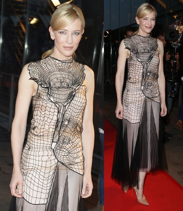 Cate Blanchett surprised us by wearing a somewhat haunting Christopher Kane dress
