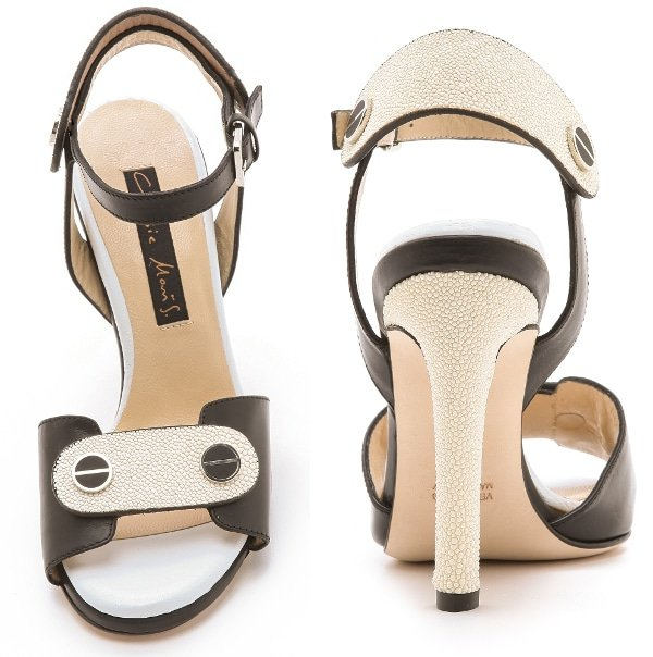 Chrissie Morris - Black and Ivory Sandals