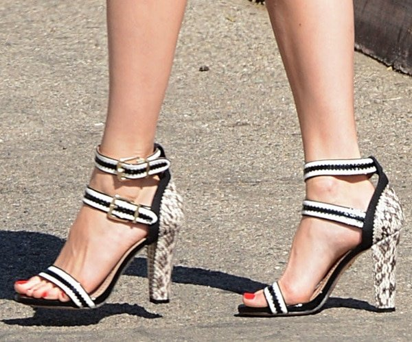 Emmy Rossum's fabulous ankle-strap sandals
