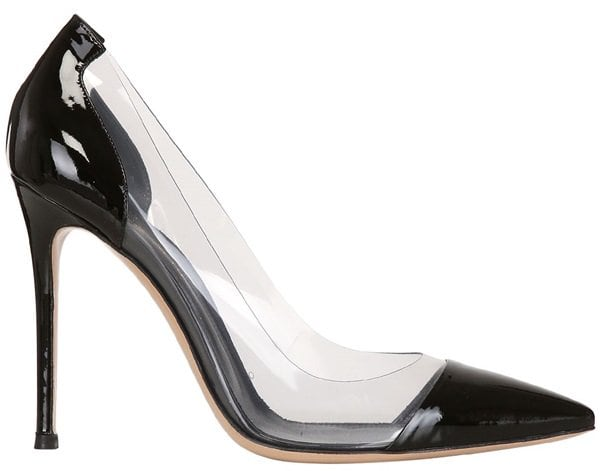 Gianvito Rossi Clear PVC and Patent Pumps