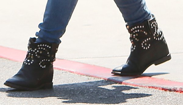 Hilary Duff's studded ankle boots