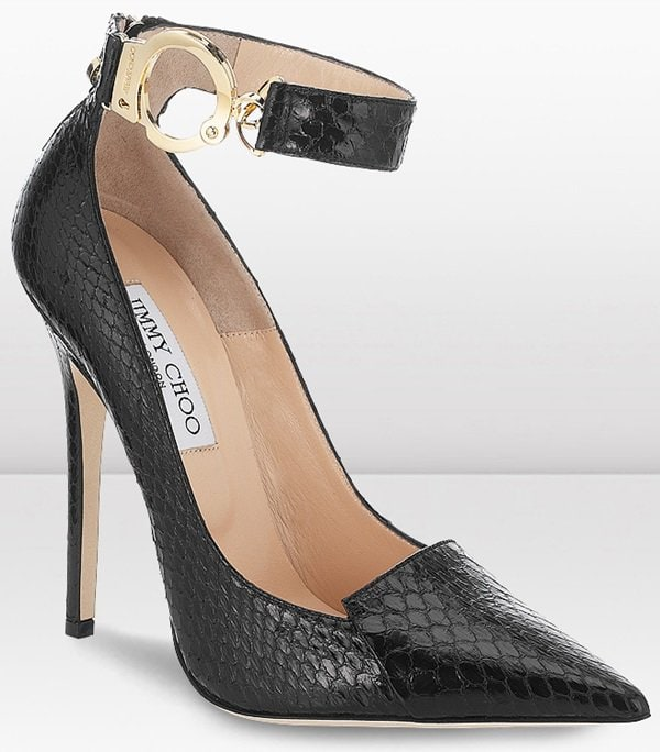 "Jimmy Choo ""Devote"" Handcuff Ankle-Strap Pumps"