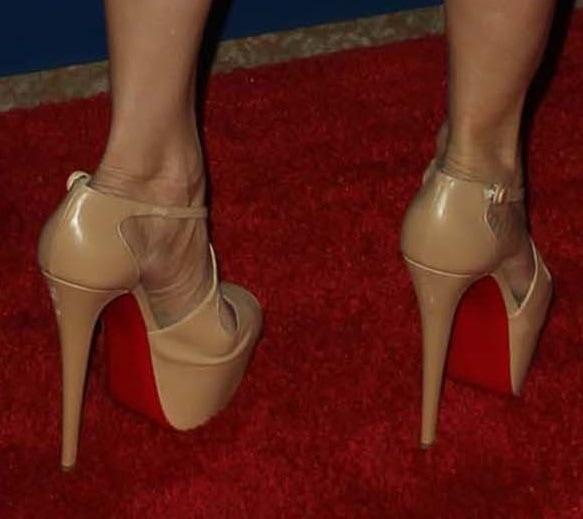 Jo Champa wearing Christian Louboutin heels