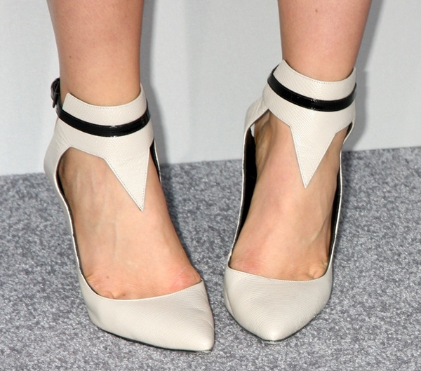 Leven Rambin's feet in standout Gio Diev Fall 2013 slingback pumps
