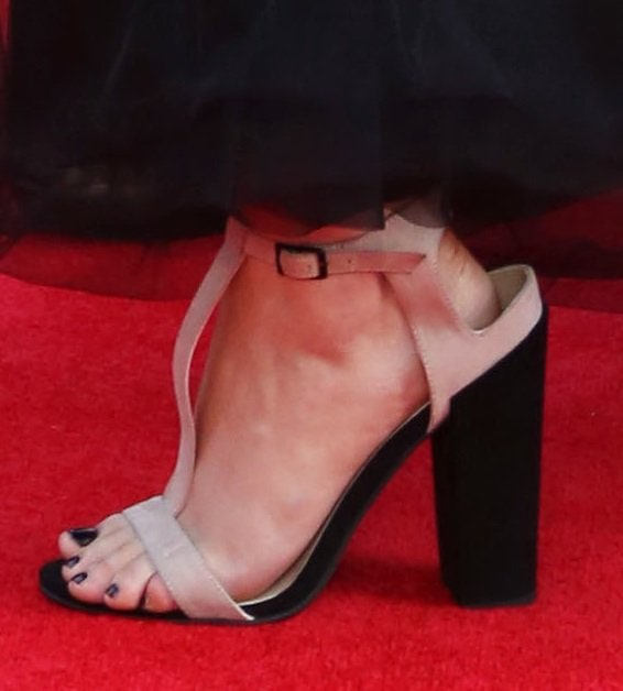 A closer look at Perrie Edwards' t-strap sandals