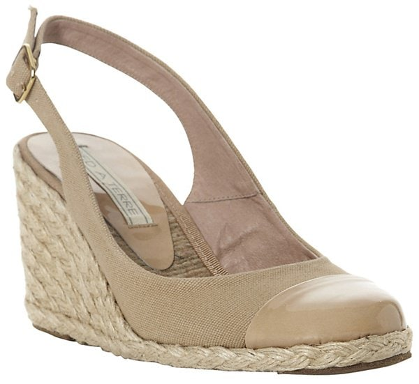 pied a terre slingback espadrille wedges nude