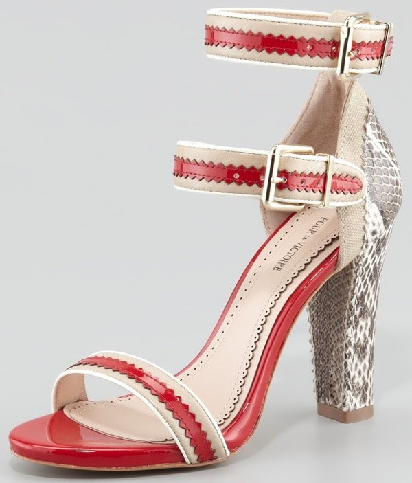 Pour La Victoire Veronica Sandals in Red Multi