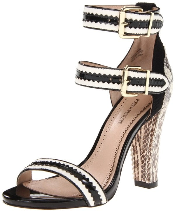 Pour La Victoire Veronica Sandals in Black Multi