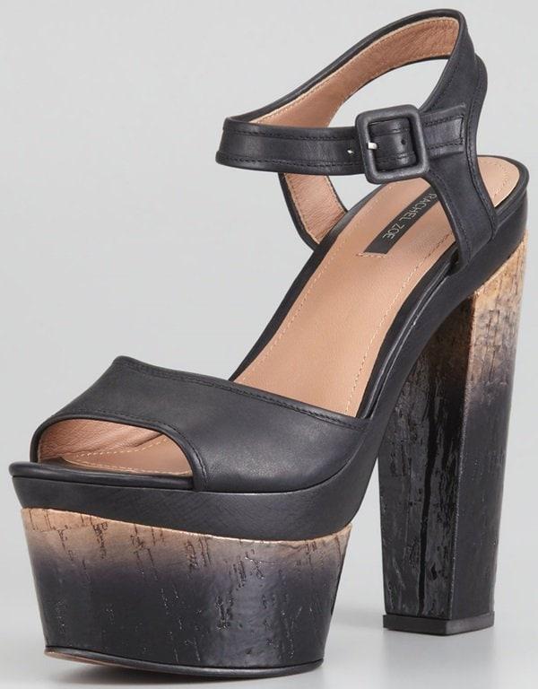Rachel Zoe Evelyn Degrade-Heeled Sandals