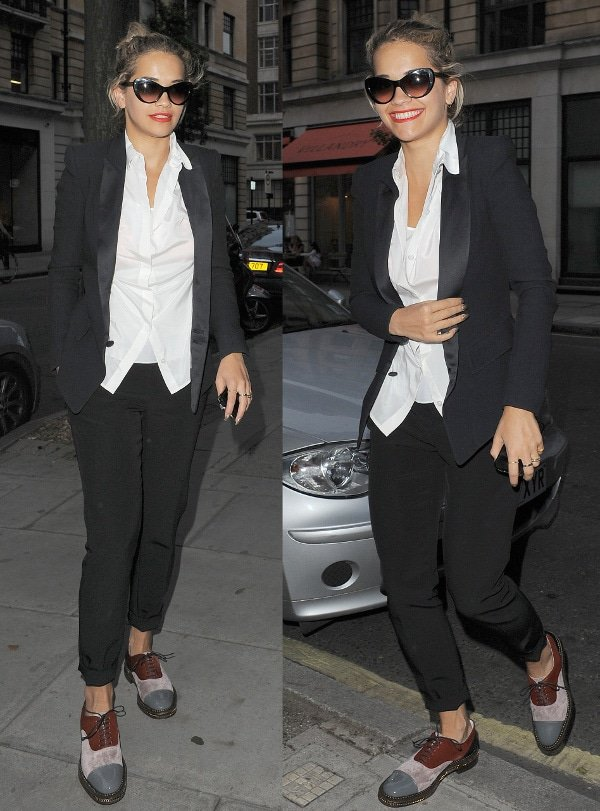 Rita Ora on her way to Percy and Reed hair salon in Marylebone, London, on August 8, 2013