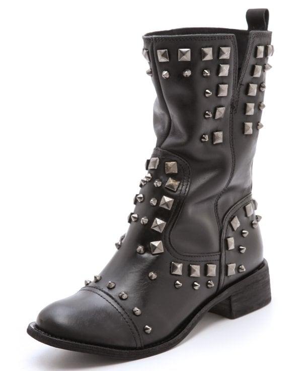 Schutz Studded Low Heel Boots