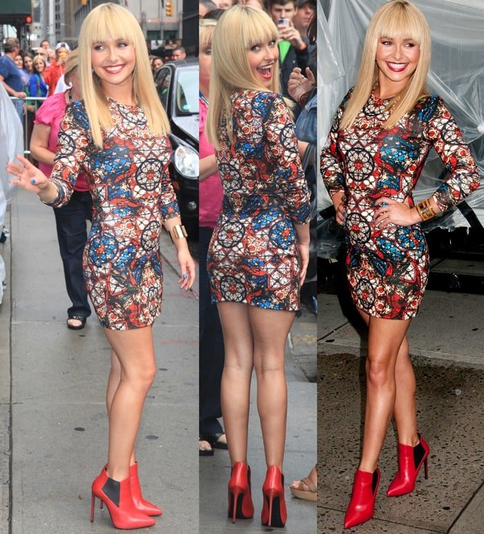 Hayden Panettiere at the Late Show with David Letterman studio in New York City on August 28, 2013