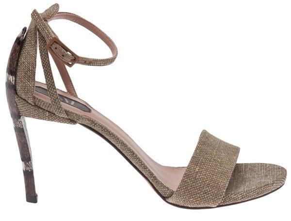 stuart weitzman linen ankle strap sandals