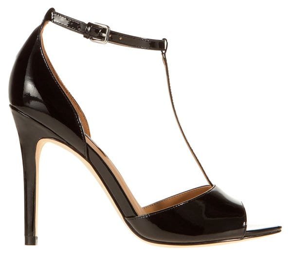 Ann Taylor Lucia T-Strap Patent Leather Sandals