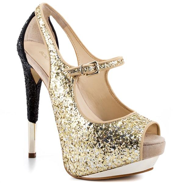Boutique 9 Nickeya Pumps in Gold Glitter