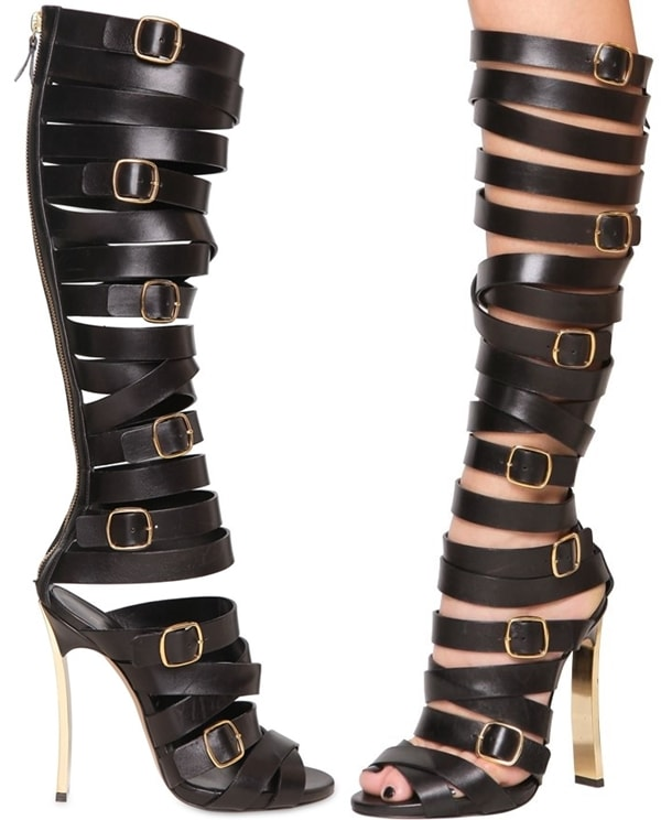 Casadei 120mm Belted Calfskin Blade One Boots