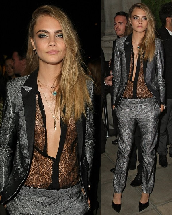 Cara Delevingne at the W magazine dinner to celebrate its September cover issue in London on September 14, 2013