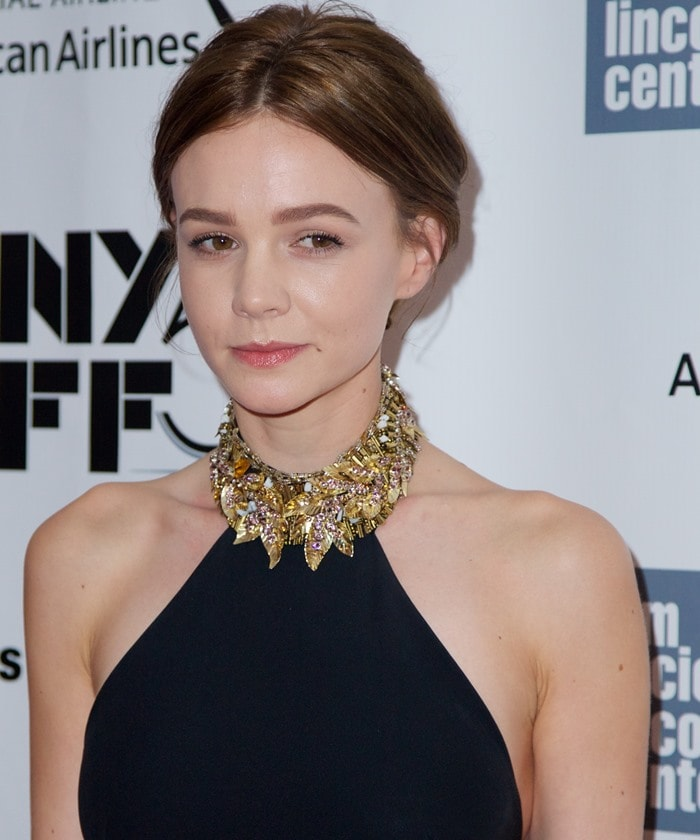 Carey Mulligan shows off a brand new brunette hairdo at the New York Film Festival