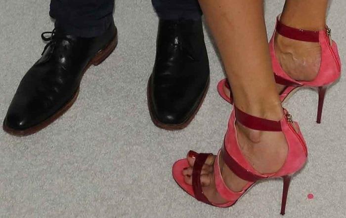 Cat Deeley's sexy feet in pink Besso sandals