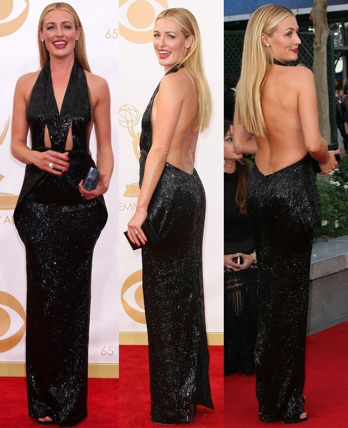 Cat Deeley wears an Armani Prive gown on the red carpet