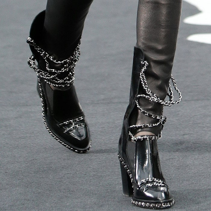 Chanel fall 2013 chained loafer boots