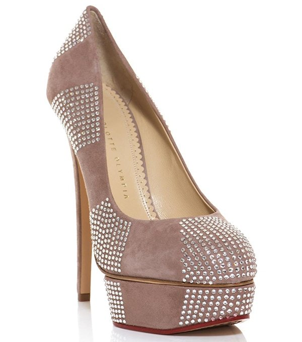 """Charlotte Olympia """"Paparazzi"""" Pumps in Nude"""