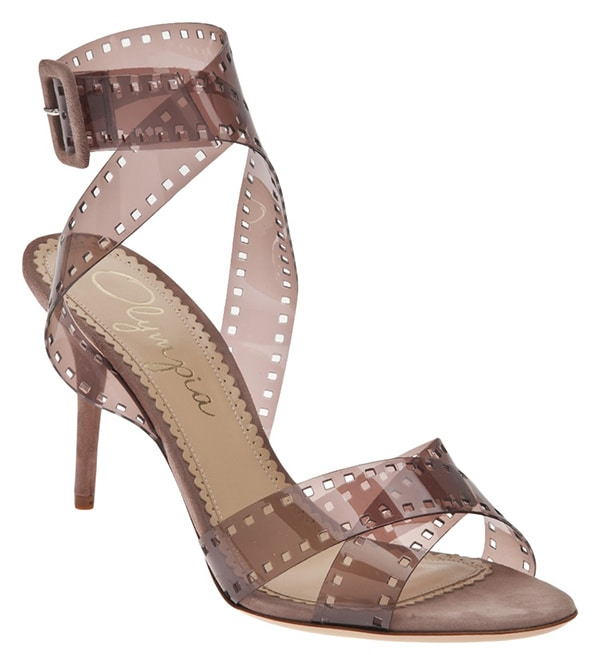 Charlotte Olympia Film Reel Sandals Sepia