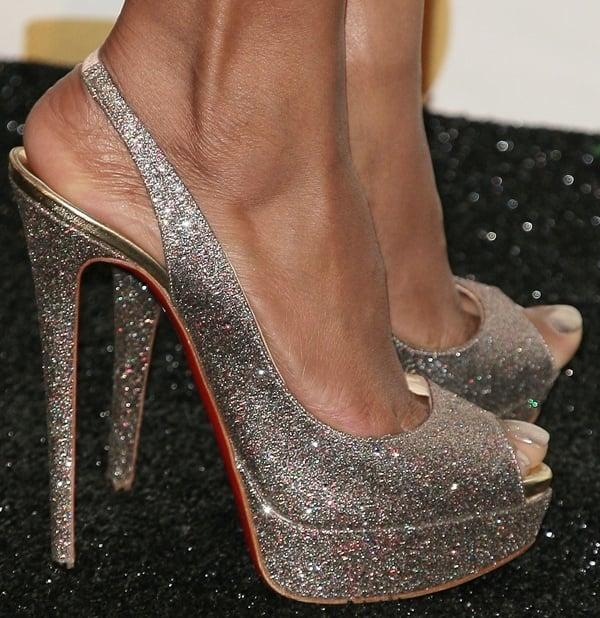 Taraji P. Henson's sexy feet in glittering high heels