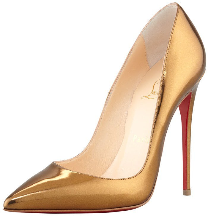 Christian Louboutin So Kate Pumps in Mirror Bronze
