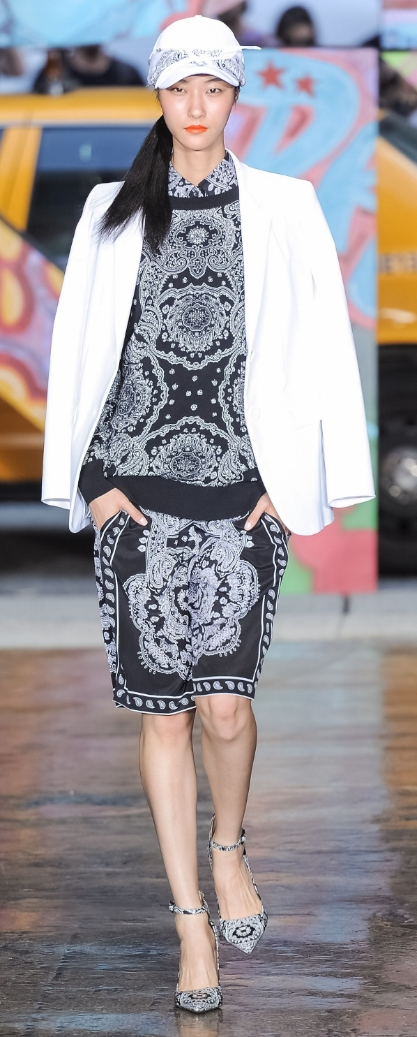 Rita Ora's look as seen on the DKNY Spring 2014 runway