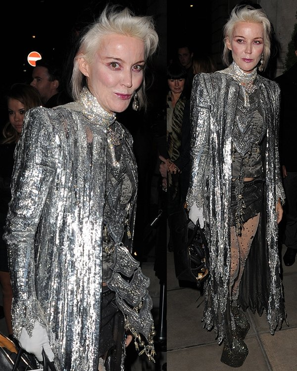 Daphne Guinness at the W magazine dinner to celebrate its September cover issue in London on September 14, 2013