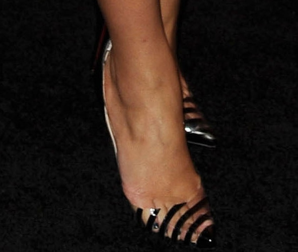 Dianna Agron's feet in Christian Louboutin pumps