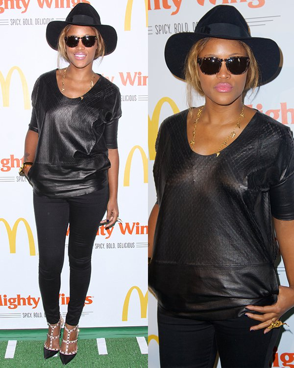 Eve rocked a black fedora at the launch of McDonald's New Mighty Wings