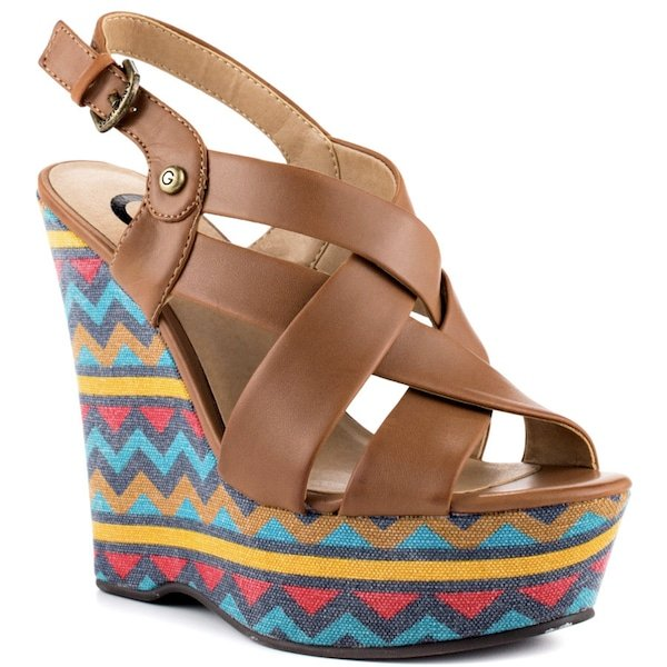 """G by Guess """"Havana 3"""" Wedge Sandals"""