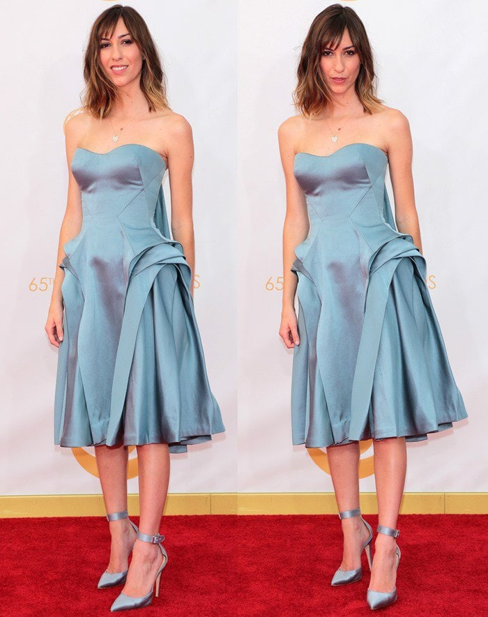 Gia Coppola wears head-to-toe dusty blue at the 2013 Emmy Awards